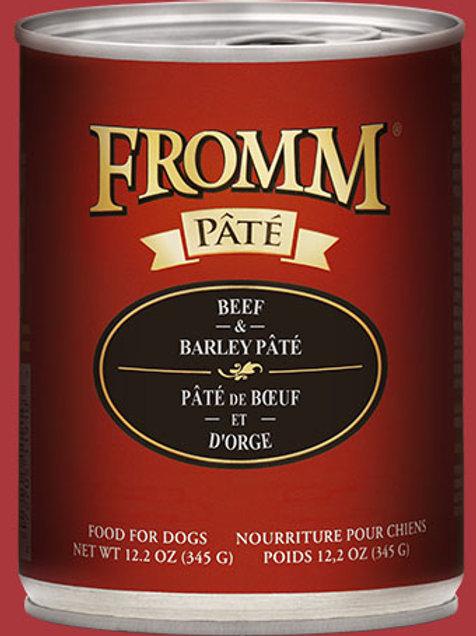FROMM - Avec Grains Pâté Boeuf et Orge 345g