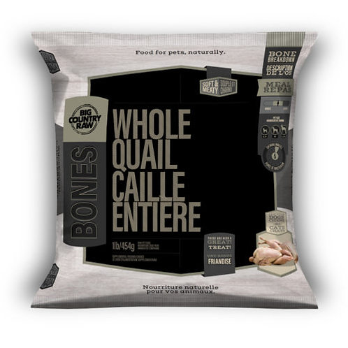 BIG COUNTRY RAW - Caille Entière - 1lb