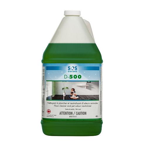SOS ODEURS - D-500 Nettoyant et neutralisant d'odeurs 4L