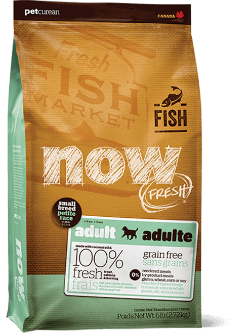 PETCUREAN NOW FRESH - Sans Grains Adulte Petite Race Poisson 12lbs