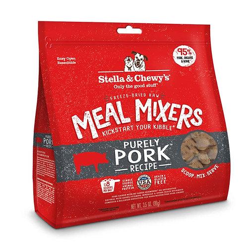STELLA & CHEWY'S - Mélange repas MEAL MIXERS lyophilisée Porc (18oz)