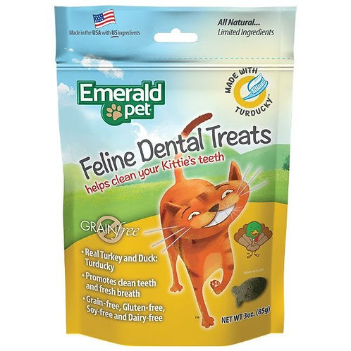 EMERALD PET - Gâteries dentaires Dinde et Canard (3oz)