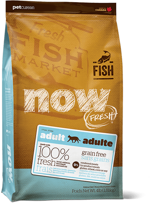 PETCUREAN NOW FRESH - Sans Grains Truite+Saumon+Hareng 8lbs