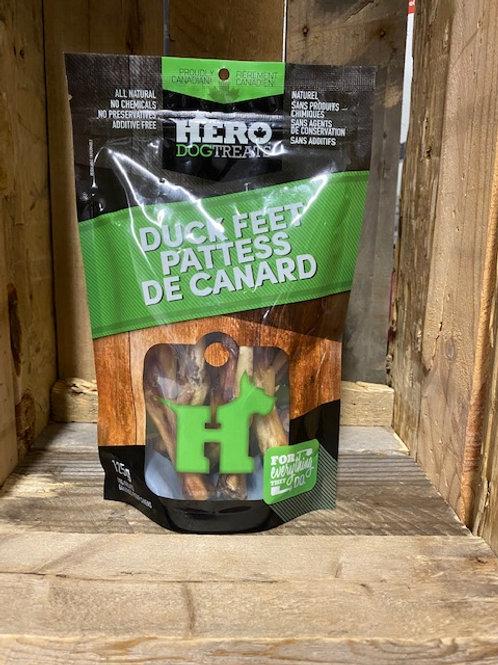 HERO DOG TREATS - Pattes de canard déshydratées (125g)