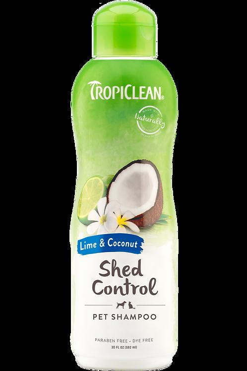 TROPICLEAN - Shampoing *Soin de mue* Lime et noix de coco 20oz