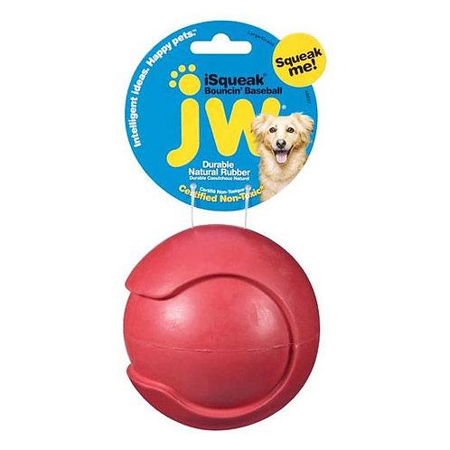 JW - Balle Baseball Rebondissante iSqueak Rouge 3''