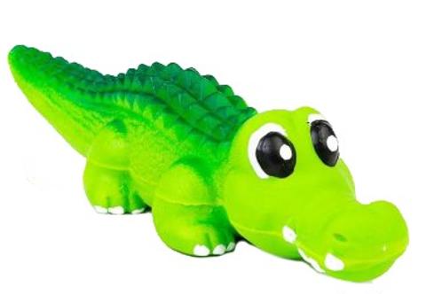 BUD'Z - Jouet Alligator vert ''Squeak'' en latex - 8.2''