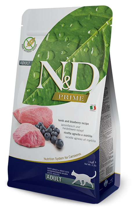 FARMINA - N&D Prime Sans Grains Agneau et Myrtilles 11lbs