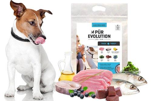 PÜR EVOLUTION - Dinde et Poisson 8.8lbs - Repas pour chiens