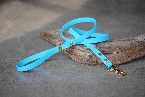LA VIE AU LAC - Collection Minimaliste Laisse Biothane 4' - Bleu Pâle