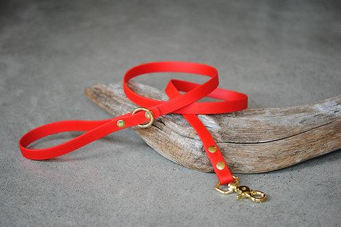 LA VIE AU LAC - Collection Minimaliste Laisse Biothane 4' - Rouge