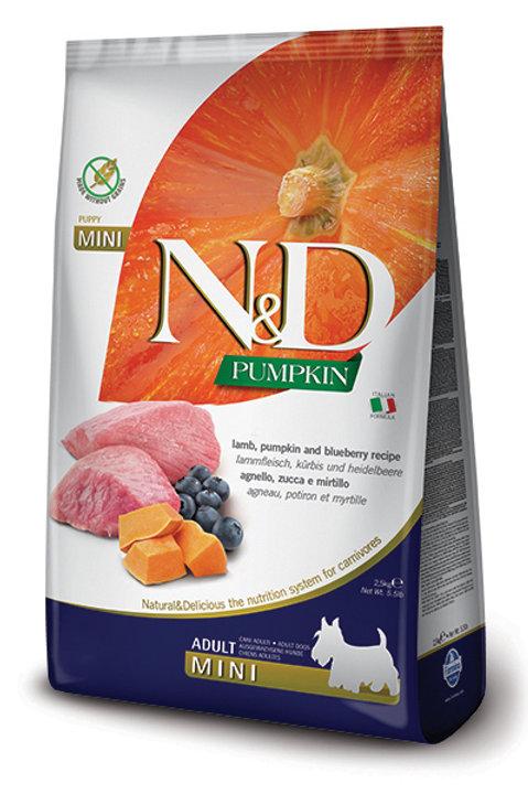 FARMINA - N&D Citrouille MINI Sans Grains Agneau et Myrtilles