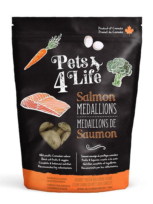 PETS 4 LIFE - Médaillons Saumon pour chiens - 3lbs
