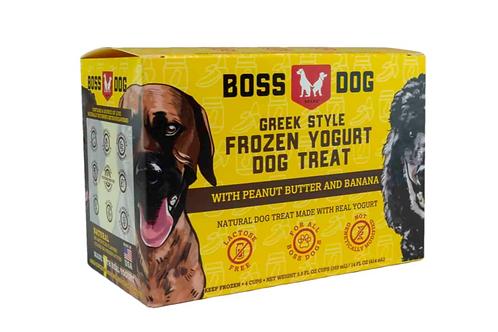 BOSS DOG - Yogourt à la Grecque Beurre d'arachide et Banane- 4 x 3.5oz