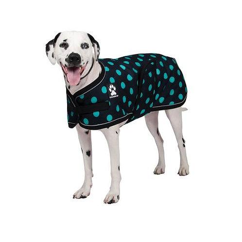 SHEDROW K9 - Manteau GLACIER noir à pois turquoise