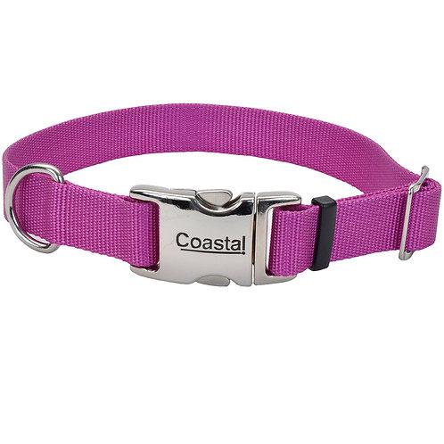 COASTAL - Collier en Nylon avec boucle de métal MAUVE - Prix à partir de