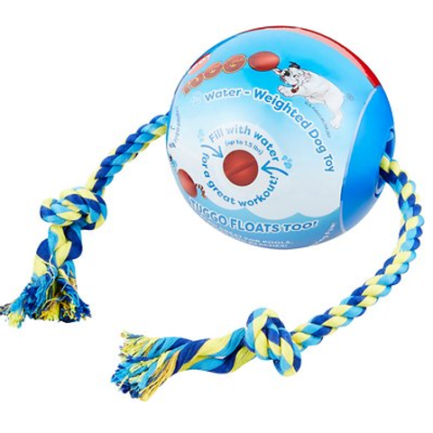 TUGGO - Balle lestée à l'eau avec corde BLEU - 2 grandeurs disponibles
