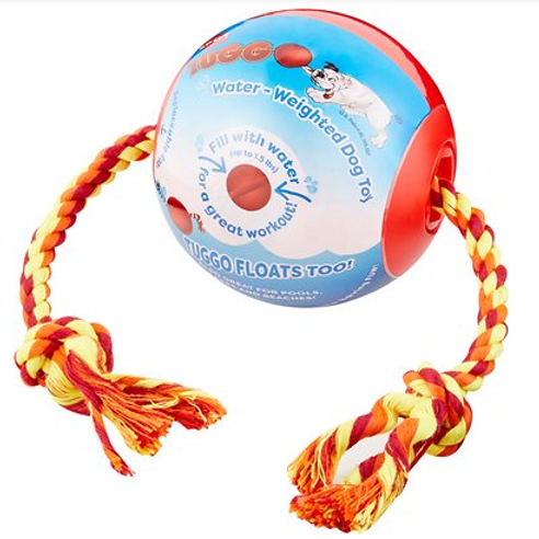TUGGO - Balle lestée à l'eau avec corde ROUGE - 2 grandeurs disponibles