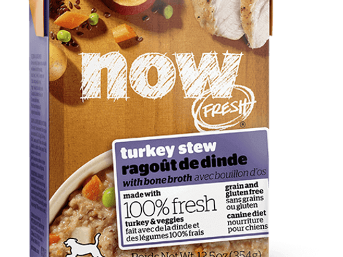 PETCUREAN NOW - Tetra Pak Sans Grains Ragoût de Dinde 354g