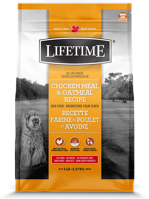 LIFETIME - Poulet et Avoine 25lbs