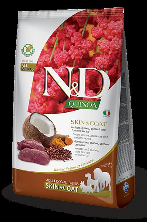 FARMINA - N&D Quinoa Sans Grains Peau et Poils Venaison 15.4lbs