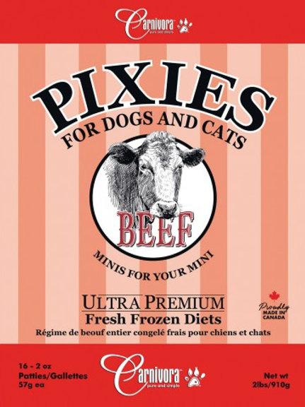 CARNIVORA PIXIES - FORMULE PUR - Boeuf - Boite de 2 lbs - pour chiens et chats