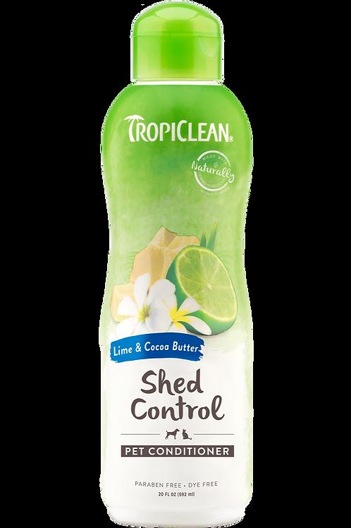 TROPICLEAN - Conditionneur *Soin de mue* Lime et Beurre de Cacao 20oz