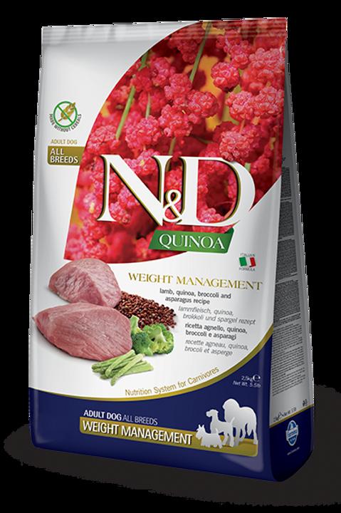 FARMINA - N&D Quinoa Sans Grains Contrôle de Poids Agneau 15.4lbs