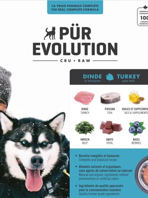 PÜR EVOLUTION - Dinde et Poisson 30lbs - Repas pour chiens