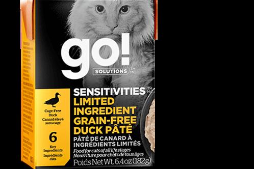 PETCUREAN GO! - Tetra Pak Ingrédients Limités Sans Grains Pâté Canard 182g