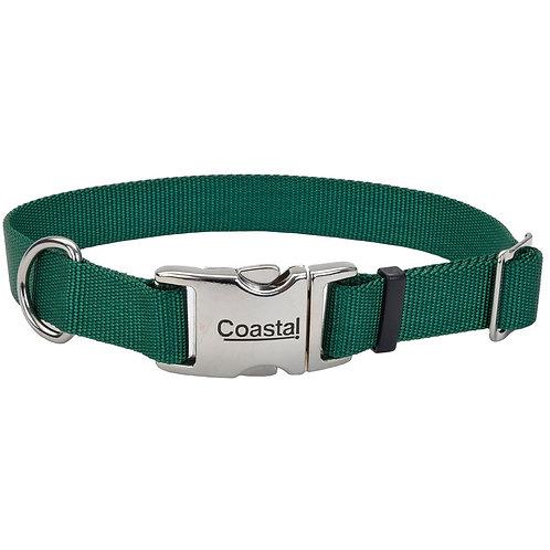 COASTAL - Collier en Nylon avec boucle de métal VERT - Prix à partir de
