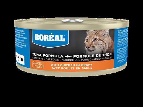 BORÉAL - Sans Grains Thon et Poulet en Sauce 156g