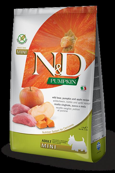 FARMINA - N&D Citrouille MINI Sans Grains Sanglier et Pomme 5.5lbs