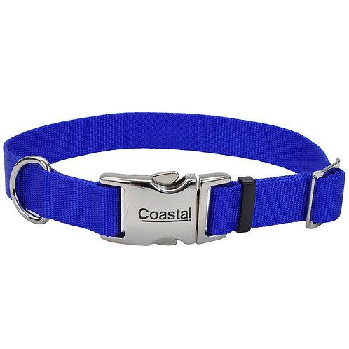 COASTAL - Collier en Nylon avec boucle de métal BLEU - Prix à part