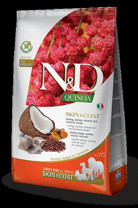FARMINA - N&D Quinoa Sans Grains Peau et Poils Hareng 15.4lbs