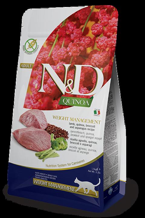 FARMINA - N&D Quinoa Sans Grains Contrôle de Poids Agneau 3.3lbs