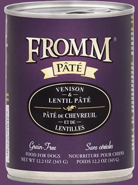 FROMM - Sans Grains Pâté Chevreuil et Lentilles 345g
