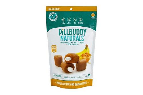 PRESIDIO - Cache-Pilule Pill Buddy Naturals Beurre d'arachide et Banane 150g