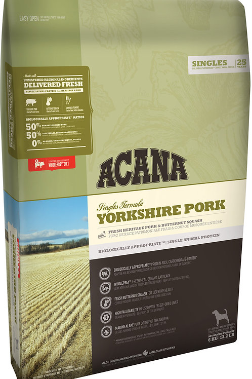 ACANA - Singles Sans Grains Pork 25lbs