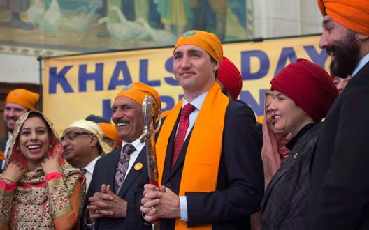 PM Justin Trudeau during Visakhi Celebration