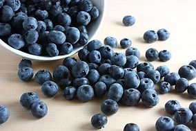 blueberries out of a bowl.jpg
