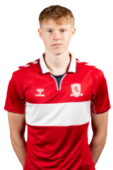 Josh Coburn with his hands behind his back in a Middlesbrough home shirt