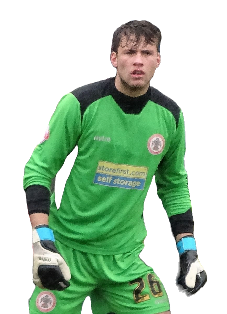 An image of Marcus Bettinelli in goal for Accrington Stanley