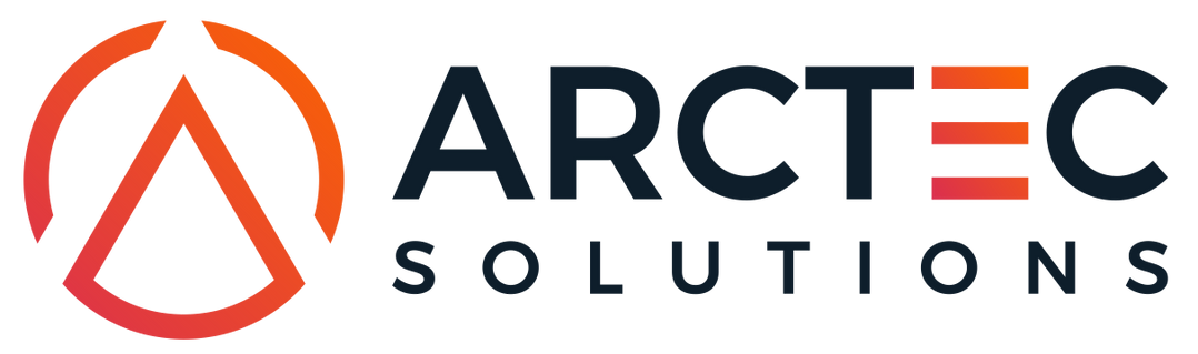 Logo + ARCTEC Solutions Variation Font 1