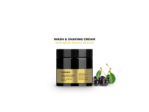 Wash & Shaving Cream with Black Cherry