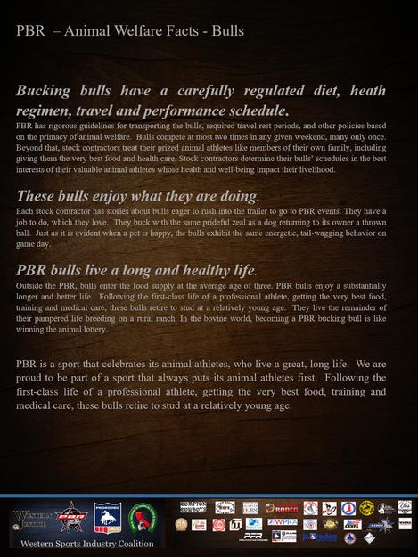Animal Welfare Facts ~ PBR Bulls