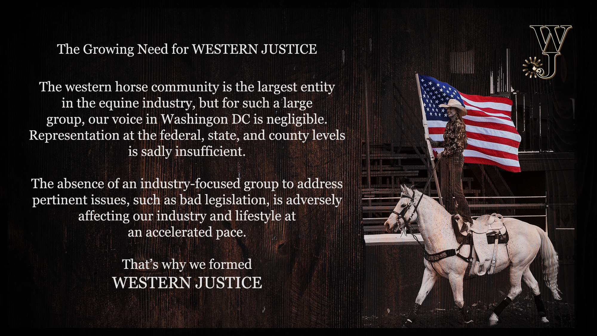 The Need For Western Justice