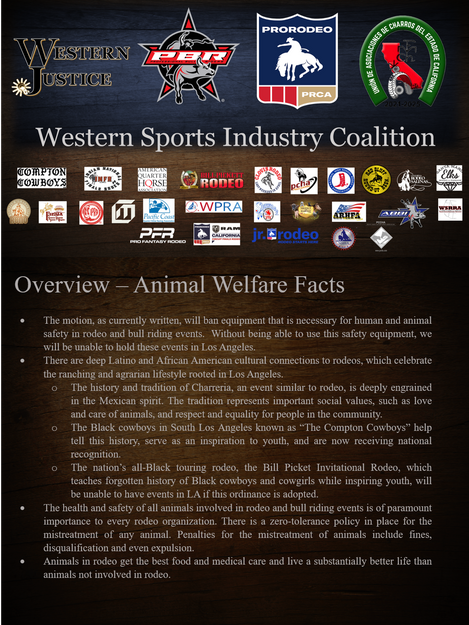WSIC - Animal Welfare In Rodeo