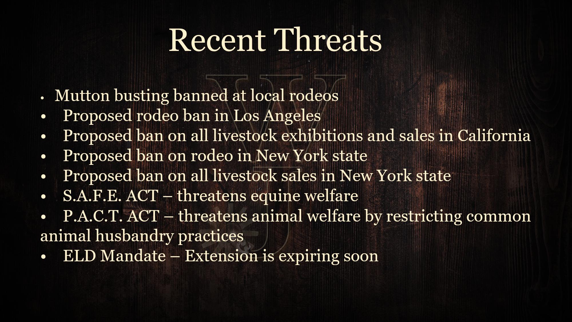 Recent Threats Graphic