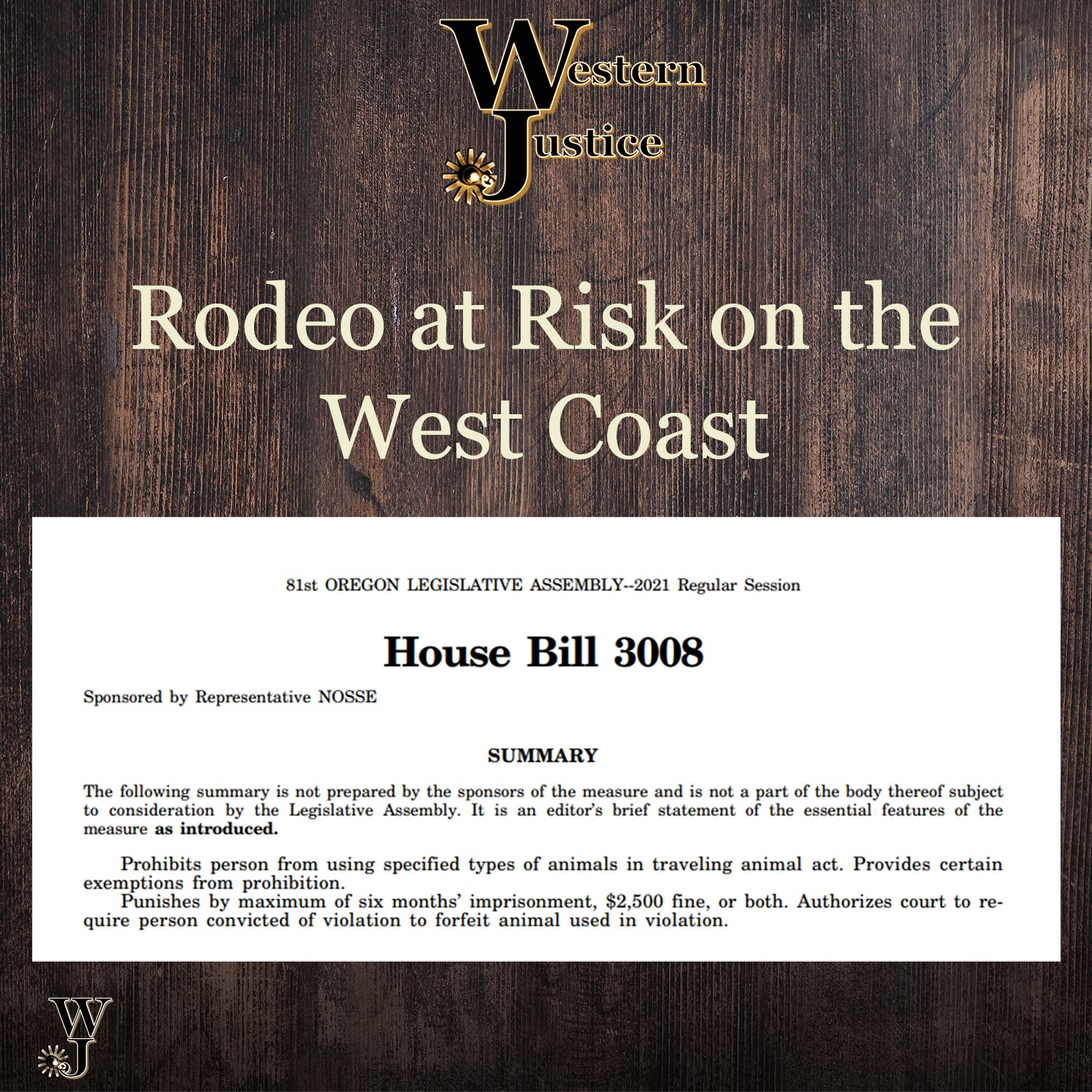 WJ Rodeo House Bill